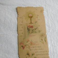 Coleccionismo Papel Varios: M69 TARJETA RELIGIOSA RECORDATORIO 1915. Lote 140461422