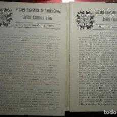 Coleccionismo Papel Varios: LOTE 2 BOLETINES EN CATALAN NUMS.5 Y 8 AÑO 1985-1986 ESBART DANSAIRE TARRAGONA. Lote 140688278