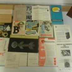 Coleccionismo Papel Varios: 15 FOLLETOS PROPAGANDA MEDICAMENTOS Y EDITORIALES DESDE 1943. Lote 140777894
