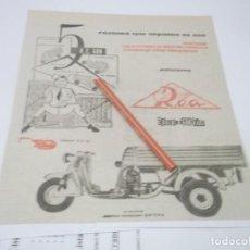 Coleccionismo Papel Varios: RECORTE PUBLICIDAD AÑOS 60-70 - MOTO - VESPA ROA . Lote 141198094