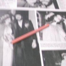 Coleccionismo Papel Varios: RECORTE AÑOS 60/70 - BODA EN PALMA DE MALLORCA DEL CANTANTE LORENZO SANTAMARIA CON YOSE . Lote 141200714