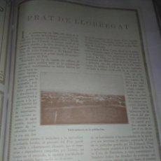 Coleccionismo Papel Varios: MONOGRAFICO DEL PRAT DE LLOBREGAT 1926 AERONAUTICA NAVAL ESPAÑOLA FABRICA DE PAPEL GRANJA LA RICARD. Lote 141210934