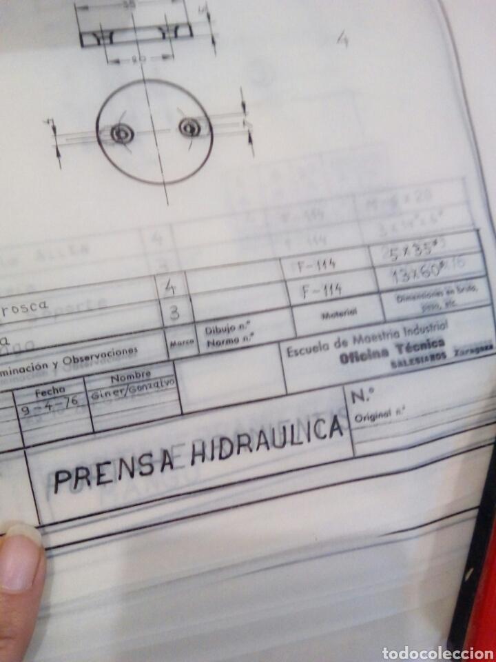 Coleccionismo Papel Varios: Planos en papel vegetal prensa hidráulica años 70 - Foto 2 - 141255897