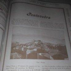 Coleccionismo Papel Varios: PONTEVEDRA ARTICULO COMPLETO 1926 VIGO BOUZAS MARIN LA LAMEIRA 1926. Lote 141334962
