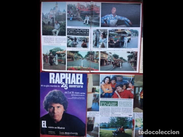 RAPHAEL LOTE PRENSA REVISTAS CLIPPINGS RECORTES (Coleccionismo en Papel - Varios)