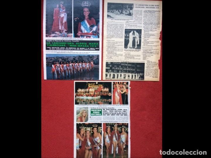 LOTE PRENSA MISS ESPAÑA RECORTES REVISTAS CLIPPINGS (Coleccionismo en Papel - Varios)