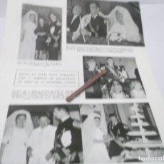 Coleccionismo Papel Varios: RECORTE AÑOS 50/60 -BODA DE MARI PEPA VERGARA Y ENRIQUE DE AMUSATEGUI EN JEREZ DE LA FRONTERA.CADIZ. Lote 141463038