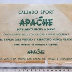 Coleccionismo Papel Varios: CALZADO SPORT APACHE. HOJA PUBLICITARIA. H. 1960?. Lote 141476088
