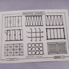 Coleccionismo Papel Varios: LÁMINA CURSO CEAC 1985 MAESTRO ALBAÑIL. Lote 141480514