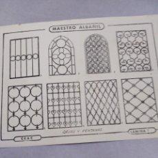 Coleccionismo Papel Varios: LÁMINA CURSO CEAC 1985 MAESTRO ALBAÑIL. Lote 141480566
