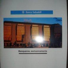 Coleccionismo Papel Varios: FOLLETO BANCO SABADELL PABELLON DE CATALUÑA, EXPO 92 SEVILLA. Lote 141833222