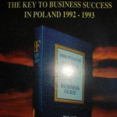 Coleccionismo Papel Varios: HOJA BUSINESS FOUNDATION. POLONIA,ENTREGADO EN LA EXPO 92 SEVILLA. Lote 141834686
