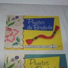 Coleccionismo Papel Varios: ALBUM PUNTOS DE BORDADO N°1 Y N°2. Lote 141847777