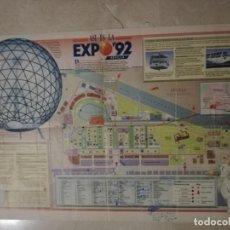 Coleccionismo Papel Varios: EXPO 92.- PLANO DE LA EXPO. Lote 142213050