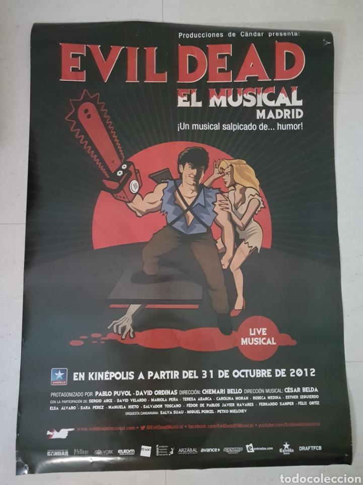 POSTER EVIL DEAD EL MUSICAL MADRID (Coleccionismo en Papel - Varios)