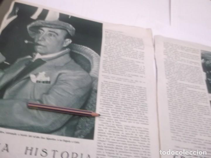 REPORTAJE RECORTE PUBLICIDAD AÑO 1934 - EL TORERO RAFAEL EL GALLO DESEMBARCA EN CÁDIZ (Coleccionismo en Papel - Varios)