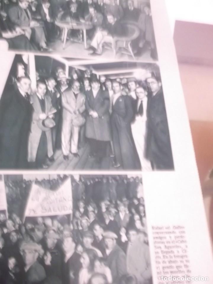 Coleccionismo Papel Varios: REPORTAJE RECORTE PUBLICIDAD AÑO 1934 - EL TORERO RAFAEL EL GALLO DESEMBARCA EN CÁDIZ - Foto 2 - 142938814