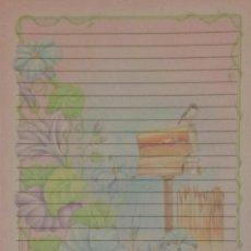 Coleccionismo Papel Varios: CARTAS PERFUMADAS - HOJA - FLORES BUZÓN GOLONDRINA SHINN JEE 312. Lote 143108950