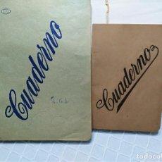 Coleccionismo Papel Varios: DOS CUADERNOS ESCOLARES AÑOS 30. Lote 143375190