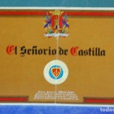 Coleccionismo Papel Varios: RESTAURANTE 'EL SEÑORIO DE CASTILLA', SEGOVIA. FOLLETO PUBLICITARIO TRIPTICO. Lote 143387542
