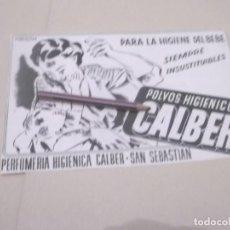 Coleccionismo Papel Varios: RECORTE PUBLICIDAD AÑOS 40/50 - POLVOS HIGIENICOS CALBER. Lote 143399358