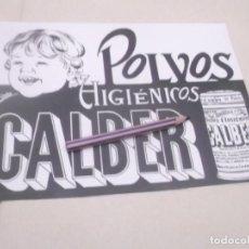 Coleccionismo Papel Varios: RECORTE PUBLICIDAD AÑOS 40/50 - POLVOS HIGIÉNICOS CALBER. Lote 143461922