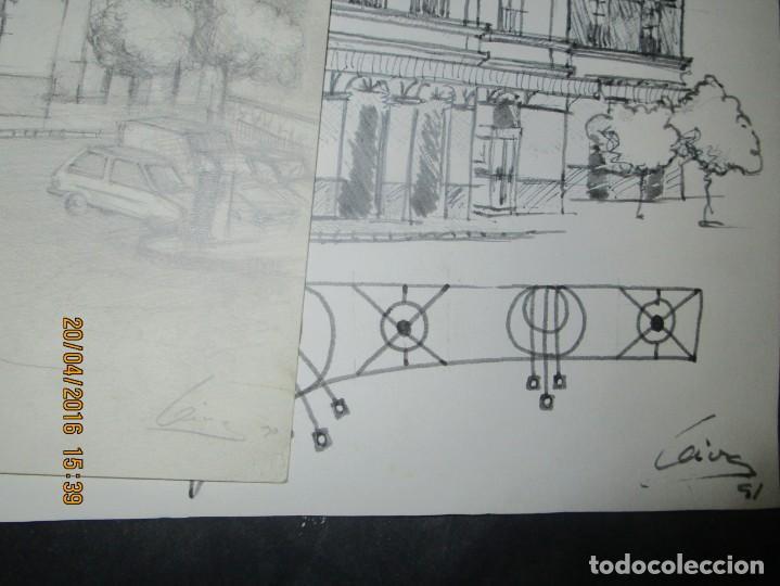 Coleccionismo Papel Varios: ANTIGUOS DIBUJOS ORIGINALES BOCETOS ESTACION FFCC ELECTRICOS DE VALENCIA FIRMADO - Foto 12 - 143577602