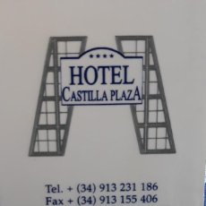 Outros artigos de papel: LLAVE TARJETA HOTEL CASTILLA PLAZA (MADRID).. Lote 143676974