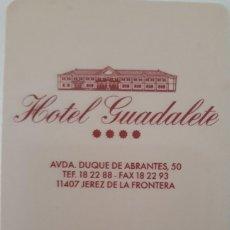 Outros artigos de papel: LLAVE TARJETA HOTEL GUADALETE (JEREZ DE LA FRONTERA).. Lote 143713914