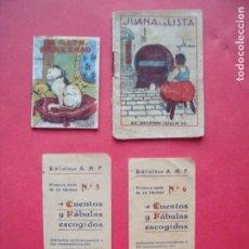 Coleccionismo Papel Varios: CUENTOS.-EL GATO PEREZOSO.-CALLEJA.-JUANA LA LISTA.-SATURNINO CALLEJA.-CUENTOS Y FABULAS ESCOGIDOS.. Lote 143733438