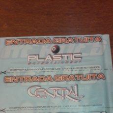 Coleccionismo Papel Varios: ENTRADA PLASTIC..CENTRAL..PONTAERI. Lote 143868042