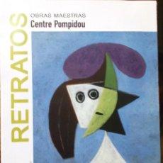 Coleccionismo Papel Varios: RETRATOS OBRAS MAESTRAS CENTRE POMPIDOU 2012 MADRID 21 X 60 CM 12 CUADROS CUADRIPTICO. Lote 143915790