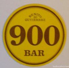 Outros artigos de papel: POSAVASOS BAR 900. BENITO GUTIERREZ 30. MADRID. Lote 144046722