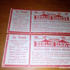 Coleccionismo Papel Varios: ENTRADA TARIFA REDUCIDA. BERLIN ZIRKUS. EST24B2. Lote 144069394