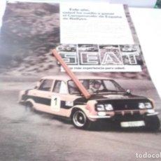 Coleccionismo Papel Varios: RECORTE PUBLICIDAD AÑOS 70 - SEAT 124 . HA VUELTO A GANAR EL CAMPEONATO DE ESPAÑA DE RALLYES. Lote 144183894