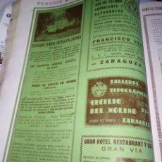 Coleccionismo Papel Varios: ZARAGOZA ESTACION TERMAL SICILIA EN JARABA ALPARGATAS FRANCISCO VERA ZARAGOZA TALLERES 1927. Lote 144388306