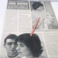 Coleccionismo Papel Varios: RECORTE AÑOS 80/90 - PRESENTADORA DE TVE SONIA MARTINEZ , DETENIDA CON SU HIJA TRAS COMPRAR HEROINA . Lote 144534970