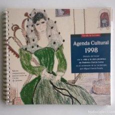 Coleccionismo Papel Varios: AGENDA CULTURAL 1998 CÍRCULO DE LECTORES - CENTENARIO DEL NACIMIENTO DE FEDERICO GARCÍA LORCA. Lote 144812246