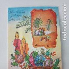 Coleccionismo Papel Varios: FELICITACIÓN NAVIDEÑA TROQUELADA Y CON PURPURINA. Lote 144929698