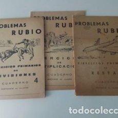 Coleccionismo Papel Varios: LOTE 3 CUADERNOS RUBIO. Lote 144931346