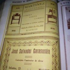 Coleccionismo Papel Varios: MADRID MARTINEZ ANTIGÜEDADES MADRID JOSE SALVADOR CARASUSAN CONSTRUCTOR . Lote 144936558
