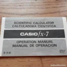 Coleccionismo Papel Varios: INTRUCCIONES CALCULADORA CASIO FX-7. Lote 145105422