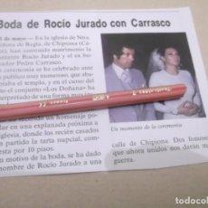 Coleccionismo Papel Varios: RECORTE AÑOS 70/80 - AÑO 1976 BODA DE LA CANTANTE ROCIO JURADO CON EL BOXEADOR PEDRO CARRASCO. Lote 145252570