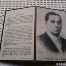 Coleccionismo Papel Varios: RECORDATORIO DÍPTICO JOSÉ CALVO SOTELO .EXEQUIAS VIGO AGOSTO 36.. Lote 145265074