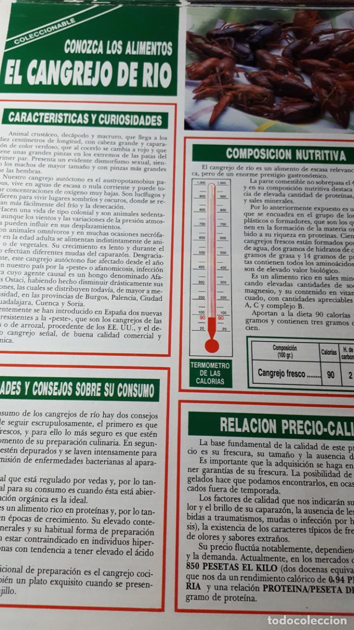 Coleccionable1 Hoja Conozca Los Alimentos En Reverso 4 Recetas Cangrejo De Rio