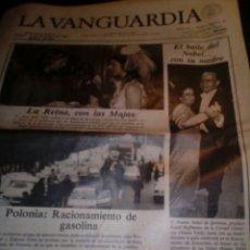 Coleccionismo Papel Varios: DIARIO LA VANGUARDIA AÑO 1981 TODO EL LOTE 32 DIARIOS AÑOS 80 ETRÁ. Lote 145659641