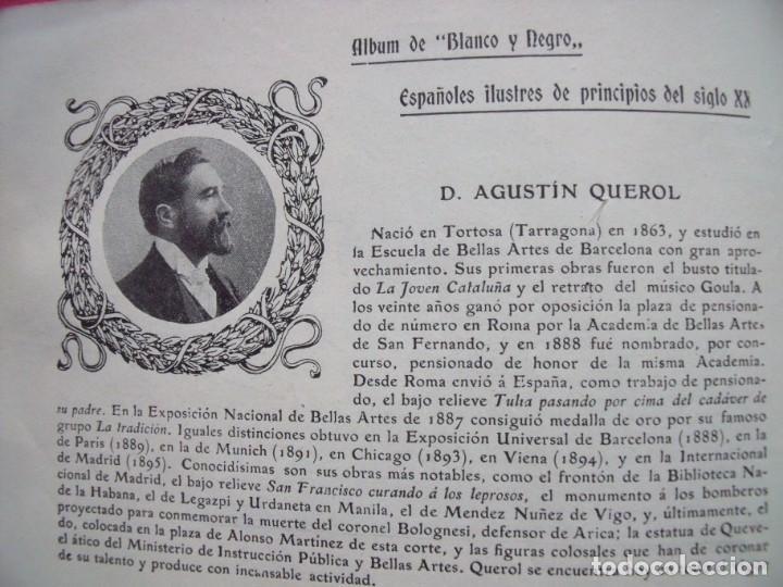 AGUSTIN QUEROL.-TORTOSA.-TARRAGONA.-ESCULTOR.-BELLAS ARTES.-FICHA.-AÑO 1904. (Coleccionismo en Papel - Varios)