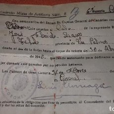 Coleccionismo Papel Varios: ANTIGUO DOCUMENTO MILITAR DE REGIMIENTO MIXTO DE ARTILLERIA NUM.8 AÑO 1942. Lote 145918742