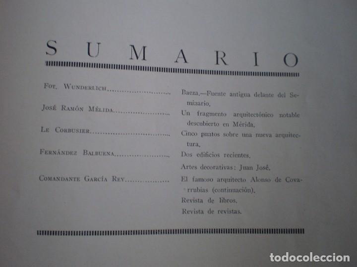 Coleccionismo Papel Varios: REVISTA ANTIGUA ARQUITECTURA. MADRID. AÑO 1928. NUMERO 107. - Foto 9 - 146077494