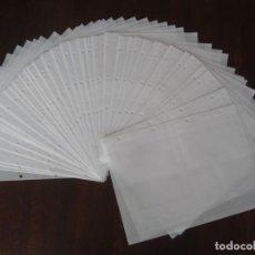Coleccionismo Papel Varios: LOTE DE 10 HOJAS NUEVAS DE PLÁSTICO PARA EL COLECCIONISMO DE PAPEL, CARTAS, RECORDATORIOS , ETC. Lote 146121550